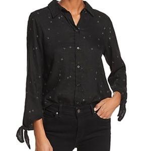 Rails Robyn Button-Front Star Embroidered Top